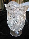 Antique Pattern Pressed Glass Spooner