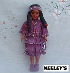 American Indian Plastic Storybook Doll