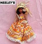 St. Thomas Souvenir Plastic Storybook Doll