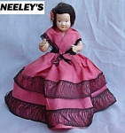 Vintage Composition Storybook Doll Real Hair