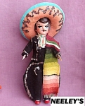 Vintage Mexico Souvenir Storybook Boy Doll