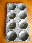 Antique Gray Graniteware Muffin Pan