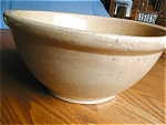 Early Yellow Ware Large Bowl