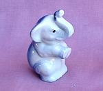 Mini Elephant Figurine 1950s Japan Dark Blue