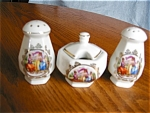 Vintage Czech Shakers And Jam Pot