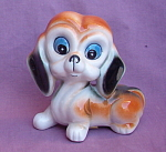 Big Eyed Puppy Dog Bone China Taiwan Figurine