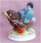 Lefton China Blue Bird Kw1637 Figurine Bisque