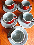 Redwing Village Green Teacups