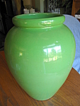 Large Green Ransbottom Oil Jar