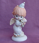 Precious Moments Happiness Divine 1992 Clown Angel