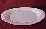 Lenox China Long Oval Dish Ivory