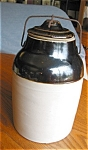 Antique Stoneware Fruit Jar Large