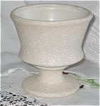 Vintage Matte White Pedestal Vase