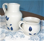 Williamsburg Pottery Pitcher And Creamer