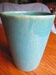 Vintage Gloss Aqua Vase