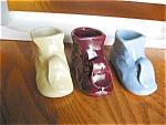 Vintage Zsc Pottery Shoe Planters