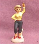 1950's Sweater Girl With Ponytail Figurine