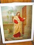 Antique Chromolithograph Jesus Print