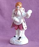 Japan Porcelain Man With Mandolin Figurine