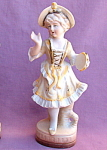 Bisque Fern Japan Figurine Tambourine Girl