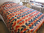 Antique Signed Woven Jacquard Coverlet