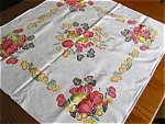 Vintage Cotton Fruit Theme Kitchen Tablecloth