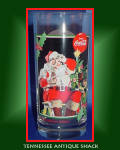 Coca Cola Santa Glass