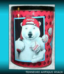 Coca Cola Polar Bear Baseball Tin