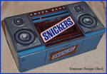 Snickers 1989 Boombox Radio Tin