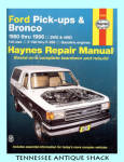 Haynes Repair Manual 1980-1996 Ford Bronco & Pick-ups