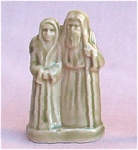 #2 Wade Whimsie Noah & Wife Figurine Red Rose Tea