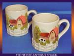 Cottage Ware Mugs Vintage Japan