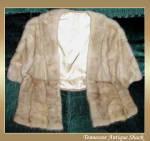 Vintage Tourmaline Mink Fur Stole