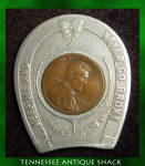 1920 Encased Wheat Penny Good Luck Horseshoe