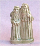 #1 Wade Whimsie Noah & Wife Figurine Red Rose Tea