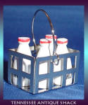 Mini Milk Bottles And Basket