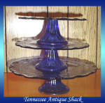Cobalt Blue 3 Tier Serving Tray