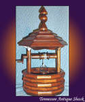 Large Wood Wishing Well With Hand Crank