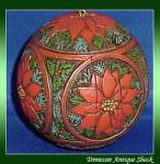 Hallmark Holly And Poinsettia Ball 1978 Ornament
