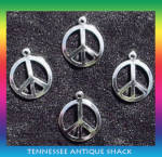 Peace Sign Charms 4 Pc