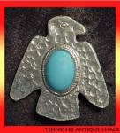 Faux Turquoise Thunderbird Pin
