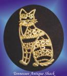 Signed Ajc Cat Figural Brooch Pin