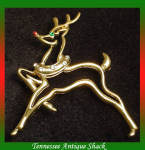 Reindeer Rhinestone Pin