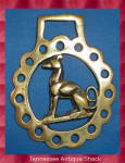 Whippet Horse Brass