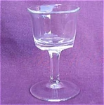 Clear Crystal Cordial Stem Glass