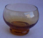 Short Stuby Amber Cordial Glass