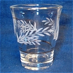 Italy Cordial Glass Frosted Leaf Pattern