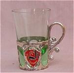 California Souvenir Green Cordial Glass