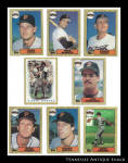 San Francisco Giants 1987 Topps Baseball Cards 8 Pc