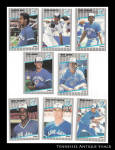 Toronto Blue Jays 1989 Fleer Baseball Cards 8 Pc